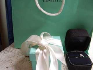 Tiffany Platinum Emerald Cut Solitaire .62 Diamond Ring