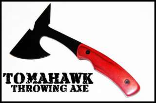 TOMAHAWK THROWING AXE SURVIVAL TACTICAL W/ CASE HATCHET WOOD HANDLE