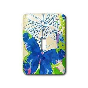 Florene Decorative   Big Blue Butterfly   Light Switch Covers   single