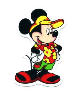 Funny Mickey Mouse Disney Beach Cute ATV Motorcycle Car Bumper Decal