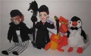 Lot 4  Mary Poppins Plush Bean Bags New