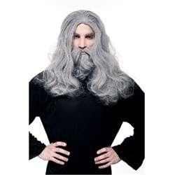 WIZARD WIG BEARD MUSTACHE adult mens halloween costume