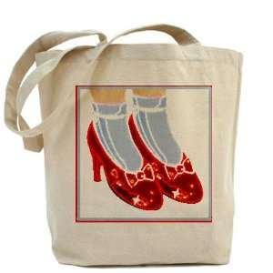 Red Ruby Slippers Cute Tote Bag by CafePress: Beauty