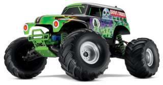 this is a traxxas tra3602a ready to run monster jam grave digger radio