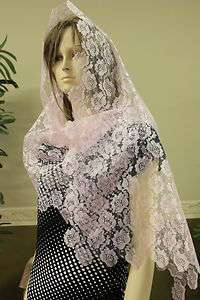 lace veil mantilla Catholic scarf latin Mass headcovering RNL