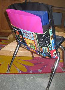Desk Sack *SCHOOL DAYS COLOR* 2 POCKETS ORGANIZE FOR Classroom