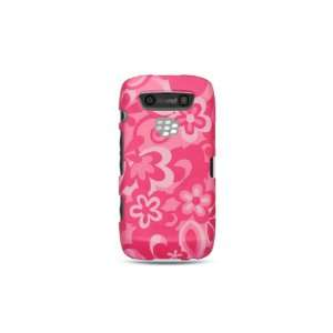 VMG BlackBerry Torch 9850/9860   Pink Hawaiian Flowers Design Hard 2