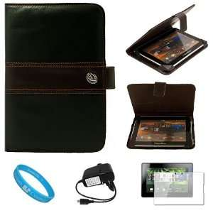 Leather Case Cover   Espresso Brown + Clear Screen Protector + Black