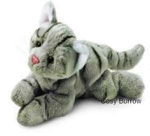 RUSS Berrie Yomiko Classics Grey Tabby Cat Soft Plush Toy Small Called
