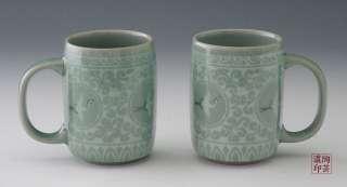 Porcelain Flower Ceramic Pottery Tea Coffee Cup Mug Set