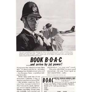 BOAC Book BOAC  and arrive by jet power Rolls Royce engines BOAC