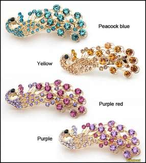 New Fashion Peacock Full Crystal Rhinestones Hairpin Hair Clip