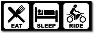 Eat Sleep Ride Dirt Bike Funny Bumper Sticker Decal MX