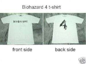 Resident Evil Game White T shirt Biohazard 4 PS2 3