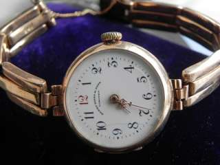 VINTAGE LADIES 1910 SOLID ROSE GOLD LONGINES BIRKS BRACELET WATCH