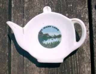 Vintage ST. MARY LAKE Glacier Natl Park TEA BAG HOLDER