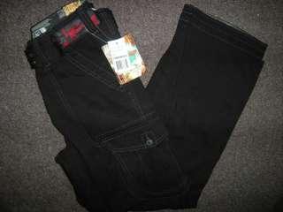 NWT WEARFIRST Boys 6 Pocket Cargo Pants w/ Belt Sz 16 BLACK