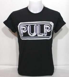 Pulp Logo Black T Shirt Vintage Funk BritPop Rock S M L