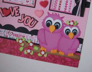 Owl Love Valentine Wedding Premade Pages Paper Piecing TBDL