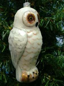 New Midwest Glass White Snow Artic Owl Bird Night Christmas Tree