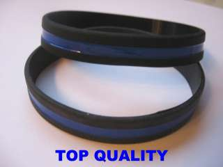 Thin Blue Line Silicone Bracelet Wristband Thin Blue Line Police
