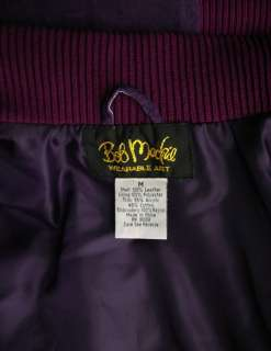 Bob Mackie Wearable Art Embroidered Leather Jacket M