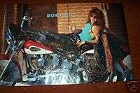 JON BON JOVI on HARLEY DAVIDSON POSTER  1989  unused