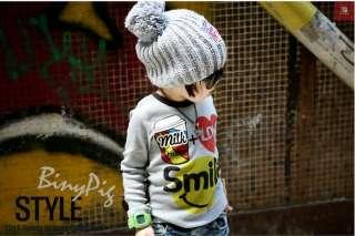 New Tag Boys Thick Sweatshirt Korean Long sleeved T shirt Size 3T 6