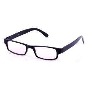 Rectangle Plastic Black Frame Computer Glasses: Health & Personal Care