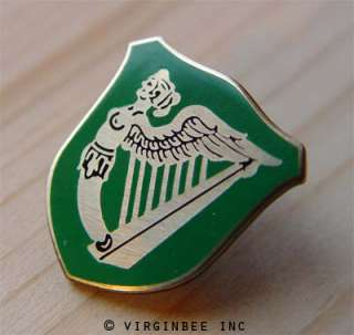 IRISH GREEN FLAG IRELAND HARP WINGED MAIDEN ERIN GO BRAGH LAPEL PIN