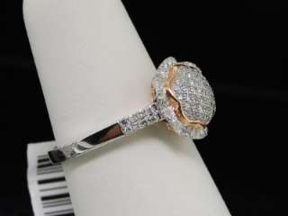 LADIES ROSE GOLD PAVE ENGAGEMENT CIRCLE DIAMOND RING