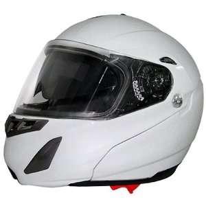 Daytona Edge White Dual Visor Full Face DOT Modular Motorcycle Helmet