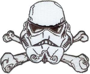Star Wars Storm Trooper Helmet Crossed Bones Patch NEW