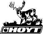 Hoyt Whitetail Buck Bowhunting Hunting Truck Decal Window Sticker