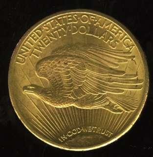 VERY NICE 1925 SAINT GAUDENS GOLD DOUBLE EAGLE G$20  YX9