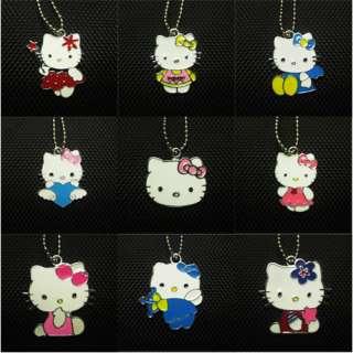 9pcs wholesale HelloKitty Girls boy kid mini necklace Birthday Best