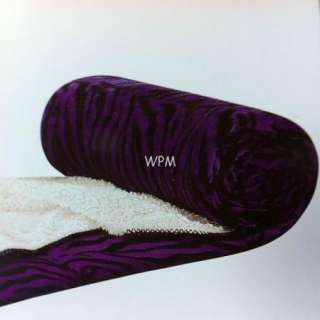 Twin Sherpa blanket super soft purple zebra print reversible Winter