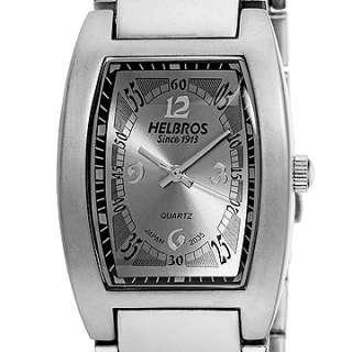 Helbros Mens Silver Tone Bracelet/Bright Silver Watch