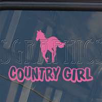 Country Girl Decal Horse Cowboy Truck Window Sticker