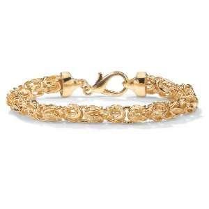 PalmBeach Jewelry 14k Gold Plated Byzantine Link Bracelet Jewelry