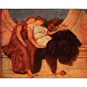 1907 Print English Painter Frederick Leighton Summer Moon