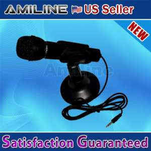Black 3.5mm Mini Studio Speech Mic Microphone W Stand