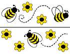 36 BUMBLE BEES YELLOW BLACK BABY GIRL KIDS WALL ART NURSERY STICKERS