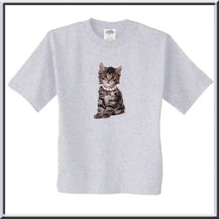 Charlie Tiger Striped Kitten Cat T Shirt S,M,L,XL,2X,3X