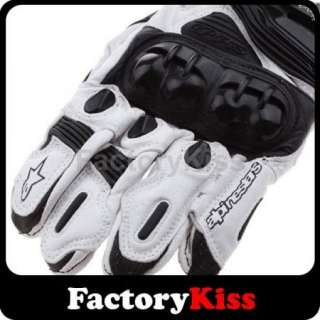 Street Bike Full Finger Motorcycle Leather Gloves 85 XL
