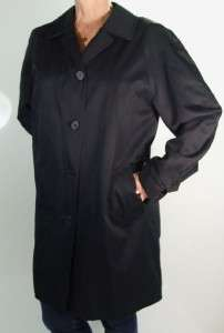 Burberry London Long Black Trench Coat Sz. 12 ~ Flawless Condition