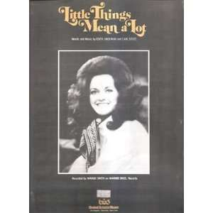 Sheet Music Little Things Mean A Lot Margo Smith 199