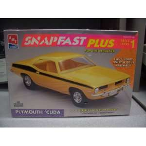 AMT Ertl 125 Model Kit #6785   PLYMOUTH CUDA   SnapFast