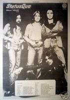 STATUS QUO   ALBUM HELLO, UK TOUR, POSTER SIZE AD 1973AD/ADVERTISEMENT