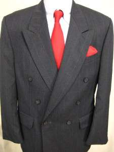Mens Stafford double breasted sport coat blazer 40S ( C13 11)
